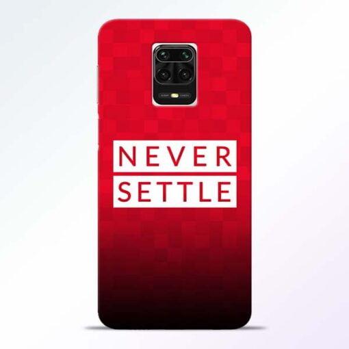 Never Settle Redmi Note 9 Pro Max Mobile Cover