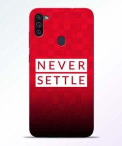 Never Settle Samsung M11 Mobile Cover - CoversGap