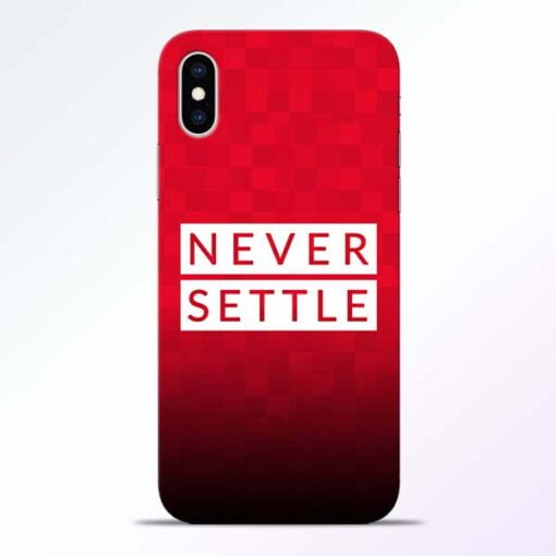 Never Settle iPhone XS Mobile Cover