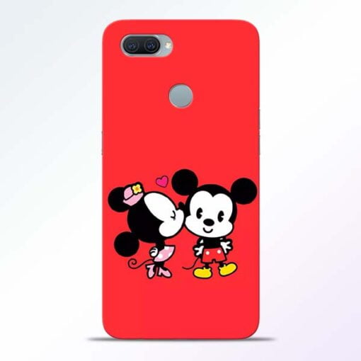 Red Cute Mouse Oppo A11K Mobile Cover - CoversGap