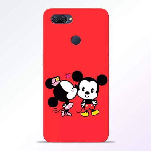 Red Cute Mouse Oppo A12 Mobile Cover - CoversGap