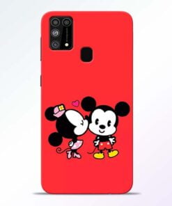 Red Cute Mouse Samsung M31 Mobile Cover