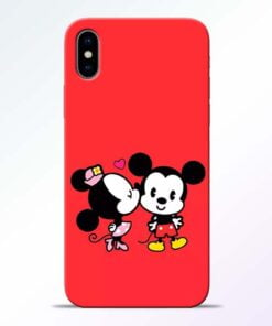 Red Cute Mouse iPhone X Mobile Cover
