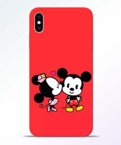 Red Cute Mouse iPhone XS Max Mobile Cover