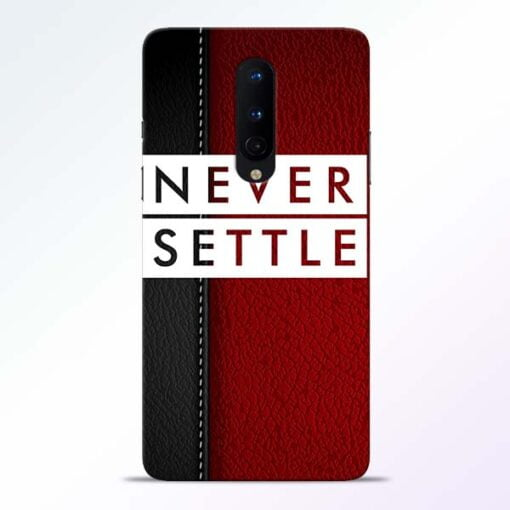 Red Never Settle OnePlus 8 Mobile Cover