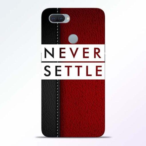 Red Never Settle Oppo A11K Mobile Cover - CoversGap