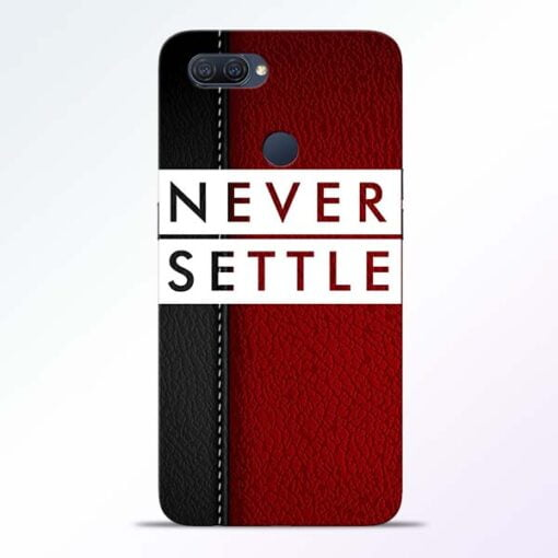 Red Never Settle Oppo A12 Mobile Cover - CoversGap