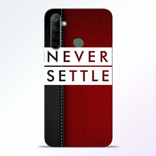 Red Never Settle Realme 6i Mobile Cover - CoversGap