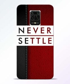 Red Never Settle Redmi Note 9 Pro Max Mobile Cover