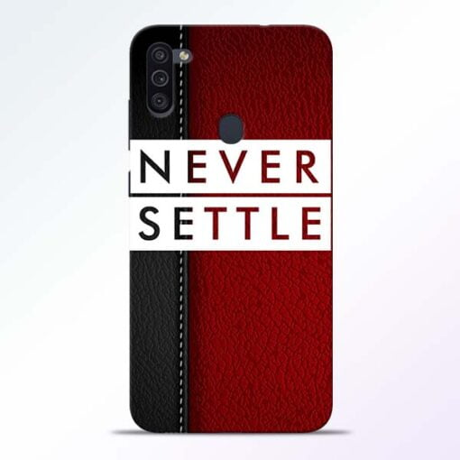 Red Never Settle Samsung M11 Mobile Cover - CoversGap
