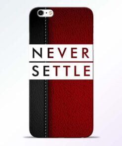 Red Never Settle iPhone 6 Mobile Cover