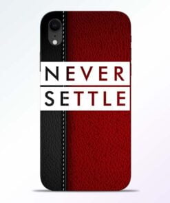Red Never Settle iPhone XR Mobile Cover
