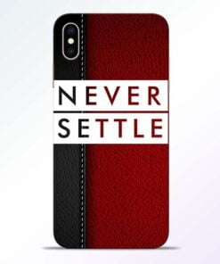 Red Never Settle iPhone XS Max Mobile Cover