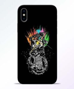 Thanos Hand iPhone X Mobile Cover