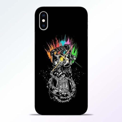 Thanos Hand iPhone XS Mobile Cover