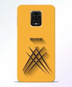 Wolverine Redmi Note 9 Pro Max Mobile Cover