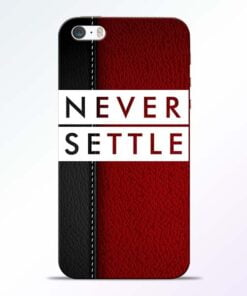 Red Never Settle iPhone 5s Mobile Cover