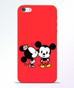 Red Cute Mouse iPhone 5s Mobile Cover
