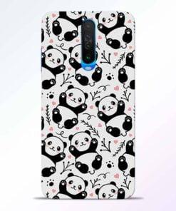 Adorable Panda Poco X2 Back Cover