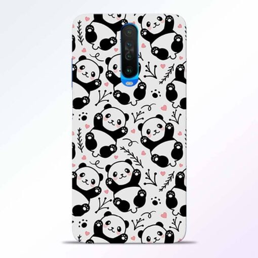Adorable Panda Poco X2 Back Cover