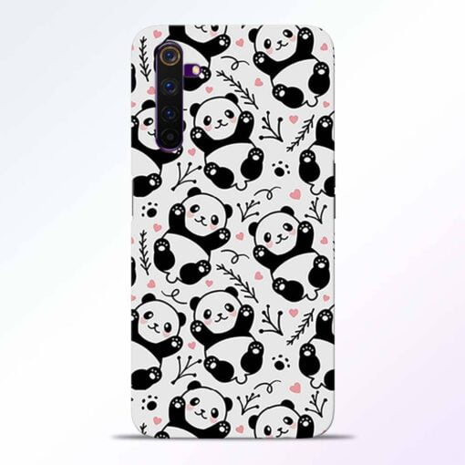 Adorable Panda Realme 6 Back Cover