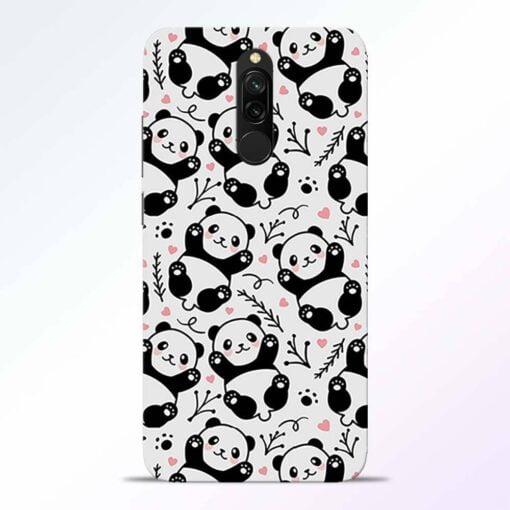Adorable Panda Redmi 8 Back Cover