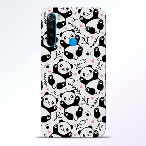 Adorable Panda Redmi Note 8 Back Cover