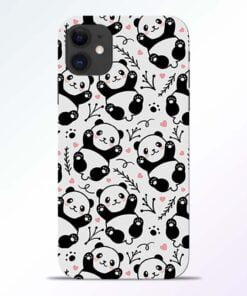 Adorable Panda iPhone 11 Back Cover