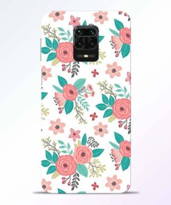 Antique Floral Redmi Note 9 Pro Back Cover