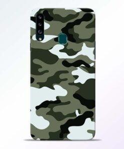 Army Camo Samsung Galaxy A20s Mobile Cover - CoversGap