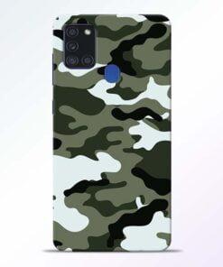 Army Camo Samsung Galaxy A21s Mobile Cover - CoversGap