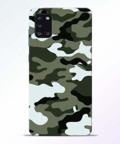 Army Camo Samsung Galaxy A31 Mobile Cover - CoversGap