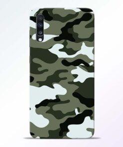 Army Camo Samsung Galaxy A70 Mobile Cover - CoversGap
