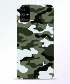 Army Camo Samsung Galaxy M31s Mobile Cover - CoversGap