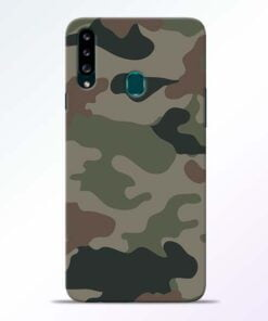 Army Camouflage Samsung Galaxy A20s Mobile Cover - CoversGap