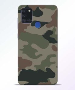 Army Camouflage Samsung Galaxy A21s Mobile Cover - CoversGap