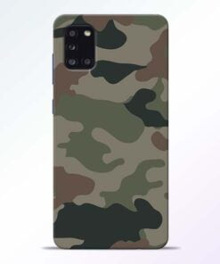 Army Camouflage Samsung Galaxy A31 Mobile Cover - CoversGap