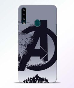 Avengers Team Samsung Galaxy A20s Mobile Cover - CoversGap