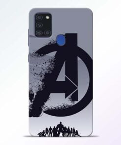 Avengers Team Samsung Galaxy A21s Mobile Cover - CoversGap