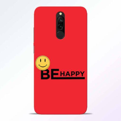 Be Happy Redmi 8 Back Cover