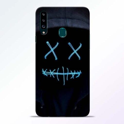 Black Marshmello Samsung Galaxy A20s Mobile Cover - CoversGap
