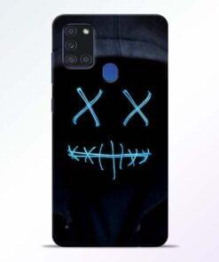 Black Marshmello Samsung Galaxy A21s Mobile Cover - CoversGap