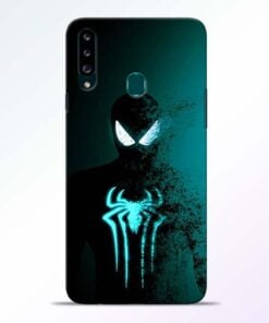 Black Spiderman Samsung Galaxy A20s Mobile Cover - CoversGap