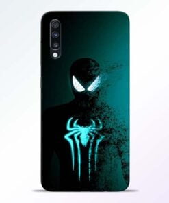 Black Spiderman Samsung Galaxy A70 Mobile Cover - CoversGap
