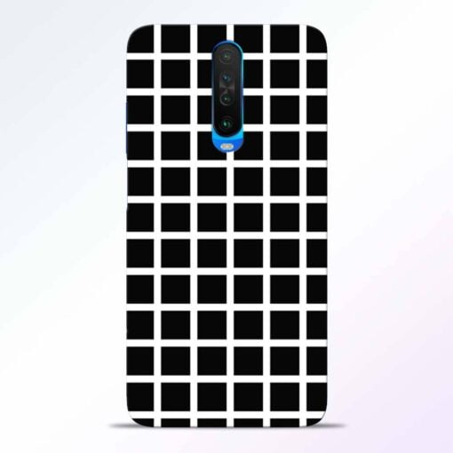 Black Tiles Poco X2 Back Cover