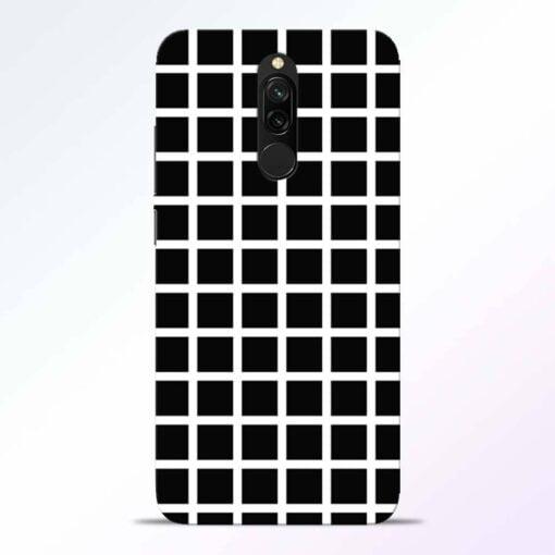 Black Tiles Redmi 8 Back Cover
