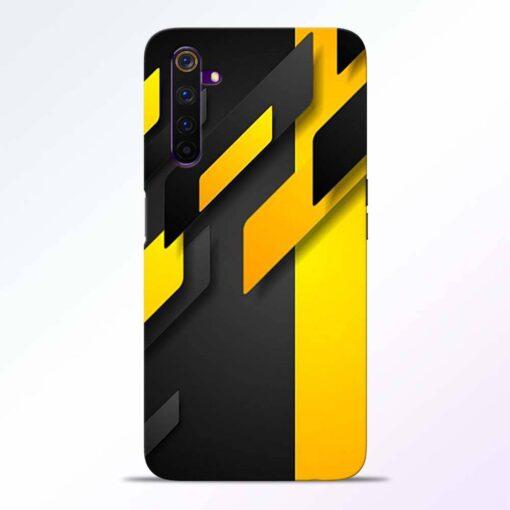 Black Yellow Realme 6 Pro Back Cover