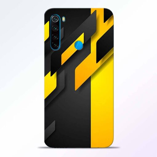 Black Yellow Redmi Note 8 Back Cover