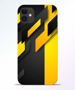 Black Yellow iPhone 11 Back Cover