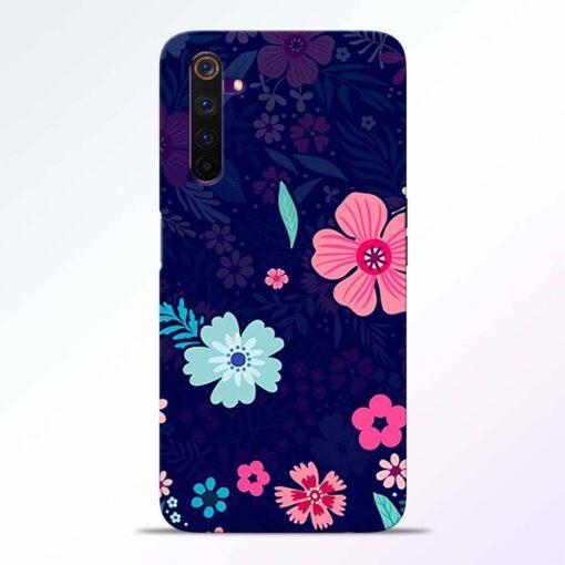 Blue Floral Realme 6 Pro Back Cover
